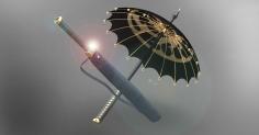 삼족오 깃을 이용한 관광상품 우산 디자인