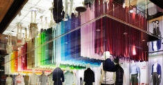 Emmanuelle moureaux - colorful wind into UNIQLO ginza store
