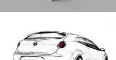 터키디자이너 Engin Tulay 자동차스케치-1