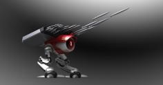 3d툴 연습하면서 만든 공격용 로봇