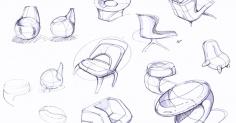 의자 스케치