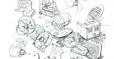 선풍기 스케치