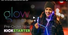 샌프란시스코 기업 'GLOW'의 빛이 나오는 헤드폰