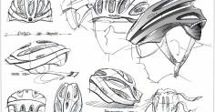 자전거 헬멧 스케치