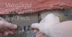 벽돌이 깨어진 곳을 3D프린터로