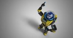Toy Story의 Buzzlightyear.