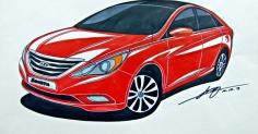 Hyundai Sonata Rendering...