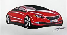 Sports Sedan Concept Car Rendering....