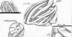 자전거 헬멧 스케치입니다