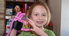 3D프린터로 제작된 손