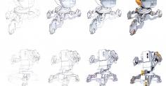로봇 스케치 입니다~